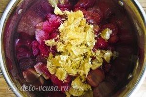 Варенье из сливы с апельсином: Добавляем цедру и мякоть апельсина