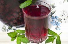 Виноградный компот с мятой на зиму