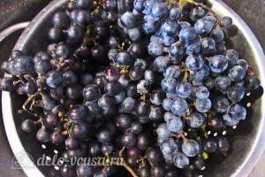 Виноградный компот с мятой на зиму: Промываем виноград