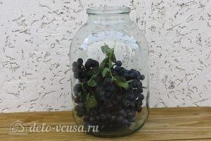 Виноградный компот с мятой на зиму: Добавляем мяту