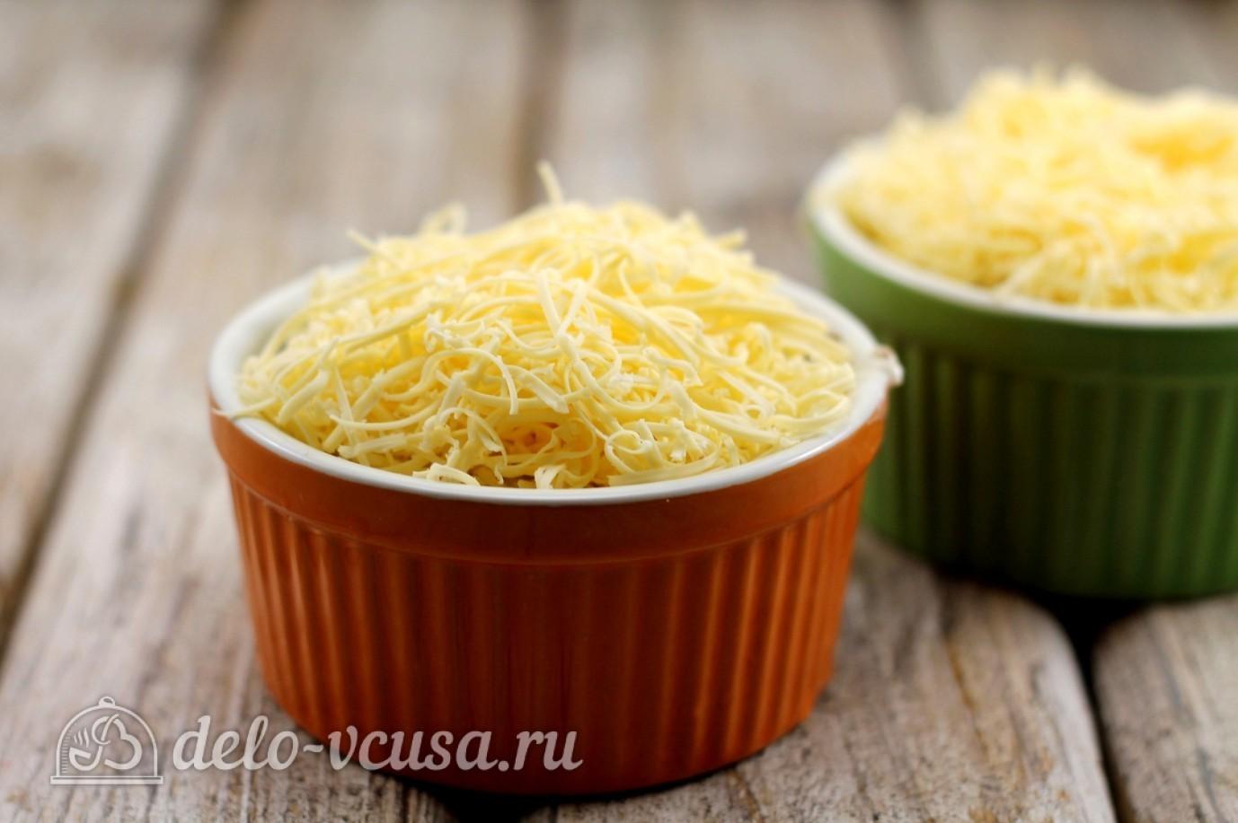 Жульен с курицей: Добавить сыр