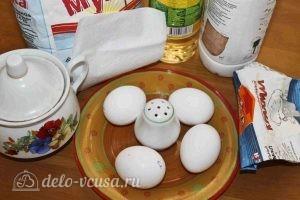 Блины с крахмалом на молоке: Ингредиенты