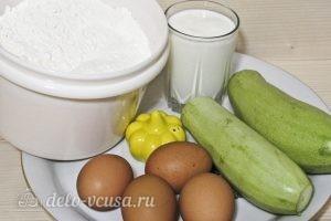 Кабачковые блины на кефире: Ингредиенты