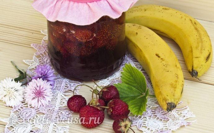 Клубнично-банановое варенье