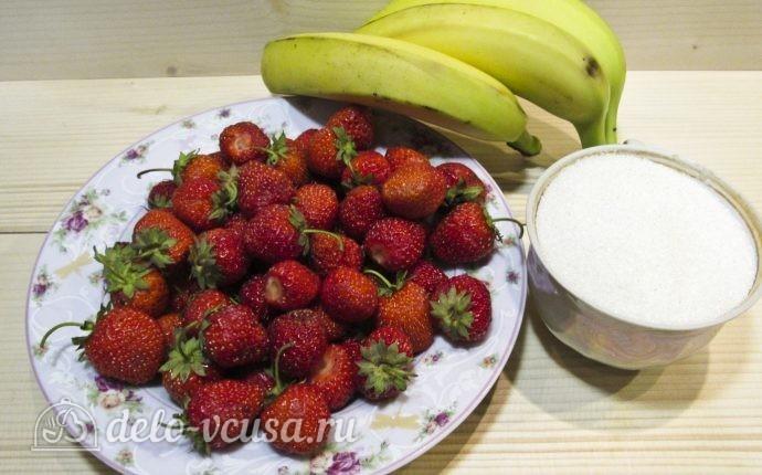 Клубнично-банановое варенье: Ингредиенты