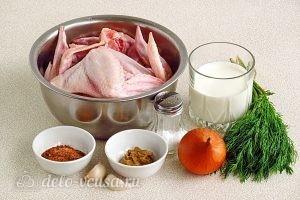 Маринованные крылышки, запеченные в духовке: Ингредиенты