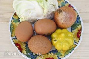 Омлет с капустой: Ингредиенты