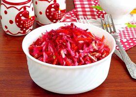 Овощной салат со свеклой