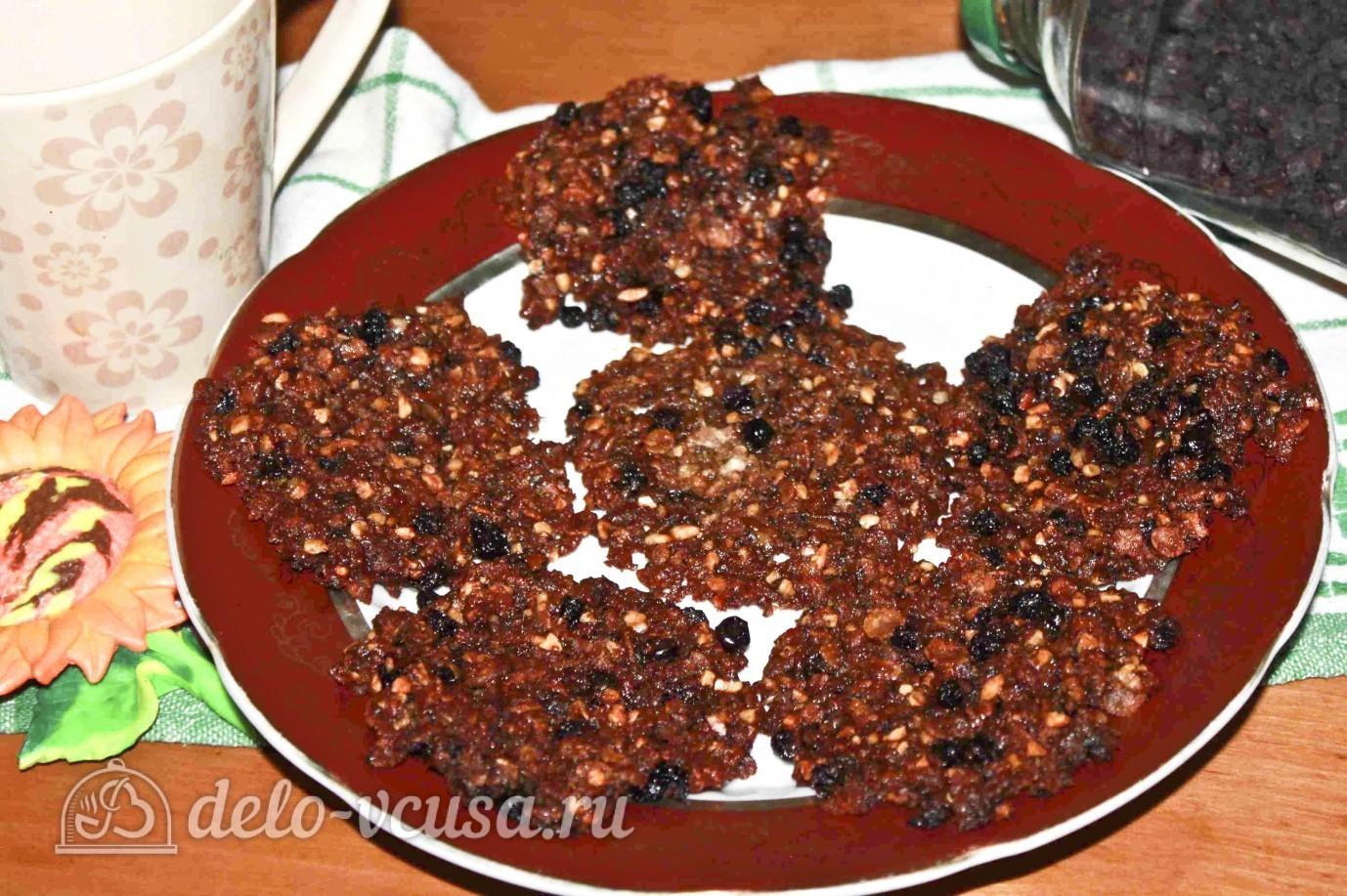 Овсяное печенье с черникой