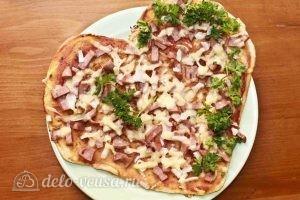 Пицца в форме сердца: Украшаем пиццу
