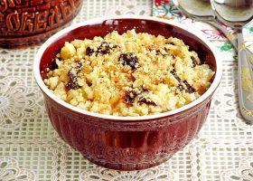 Рисовая каша с черносливом и орехами в мультиварке