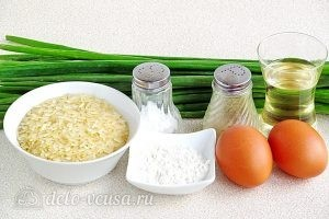 Рисовая запеканка с зеленым луком: Ингредиенты