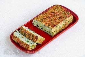 Рисовая запеканка с зеленым луком