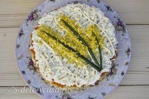 Салат Мимоза классический: Украшаем салат
