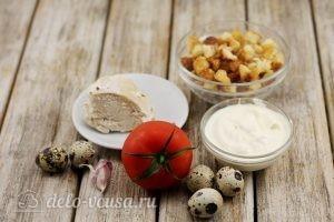 Салат из пекинской капусты с сухариками: Ингредиенты