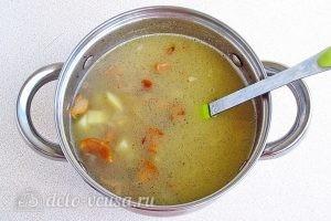 Суп из свежих лисичек: Хорошо перемешать суп