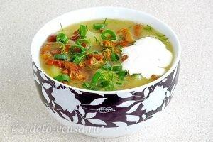 Суп из свежих лисичек готов