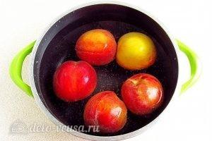 Варенье из персиков по-слонимски: Персики окунуть в кипяток