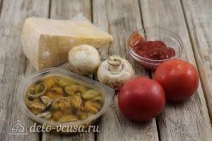Пицца с мидиями: Ингредиенты