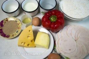 Булочки с колбасой и сыром: Ингредиенты