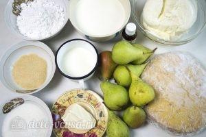 Чизкейк без выпечки с карамелизированными грушами: Ингредиенты