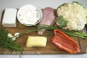 Цветная капуста, запеченная с курицей в духовке: Ингредиенты