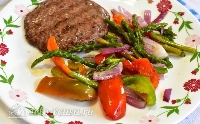Быстрый гарнир из овощей к мясу