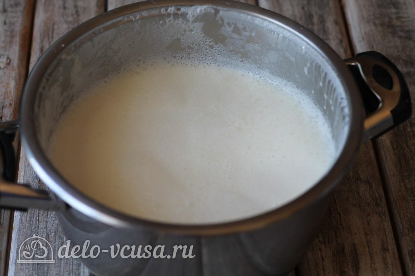 Домашняя брынза: Довести молоко до кипения