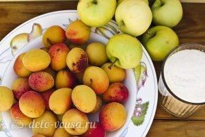Компот из абрикосов и яблок на зиму: Ингредиенты