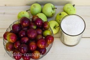 Компот из алычи и яблок на зиму: Ингредиенты