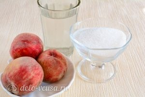 Компот из персиков на зиму: Ингредиенты