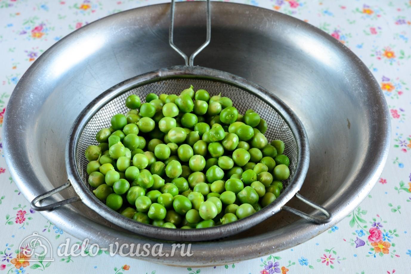 фарш и консервированный горошек рецепт