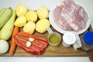 Мясо с овощами в духовке: Ингредиенты