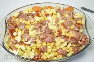 Мясо с овощами в духовке: Запечь в духовке