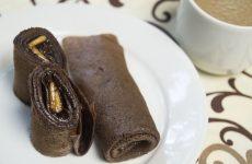 Шоколадные блинчики с шоколадной начинкой