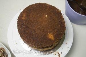 Шоколадный торт Дуэт: Выбрать ровный корж для верха