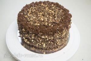Шоколадный торт Дуэт: Украсить торт