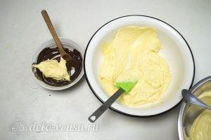 Шоколадный торт Дуэт: Смешать тесто с шоколадном