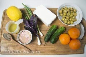 Овощной салат с тунцом: Ингредиенты