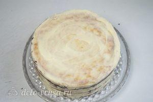 Сметанный торт Мишка: Достать торт из холодильника