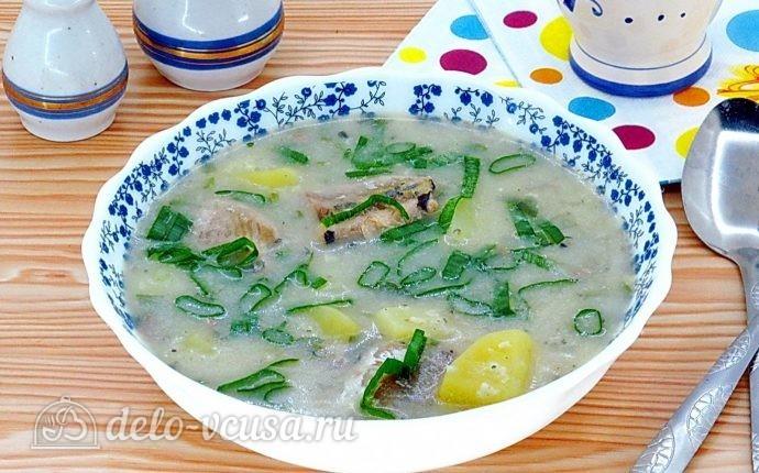 Суп из консервированной сайры с пшеном в мультиварке