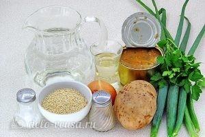 Суп из консервированной сайры с пшеном в мультиварке: Ингредиенты