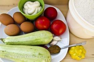 Закуска из жареных кабачков с помидором: Ингредиенты