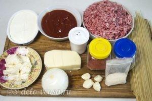 Запеканка из макарон с фаршем: Ингредиенты