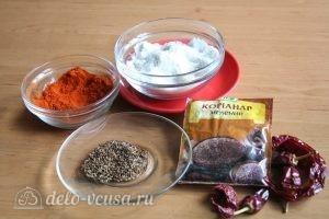 Сухая аджика: Ингредиенты