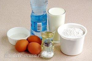 Блины на минеральной воде: Ингредиенты