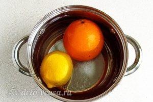 Джем из кабачков с апельсином и лимоном в мультиварке: Апельсин и лимон опустить в кипяток