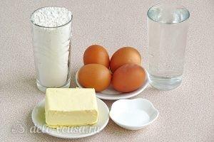 Эклеры со сливочно-сметанным кремом: Ингредиенты
