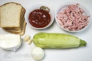 Горячие бутерброды с фаршем: Ингредиенты