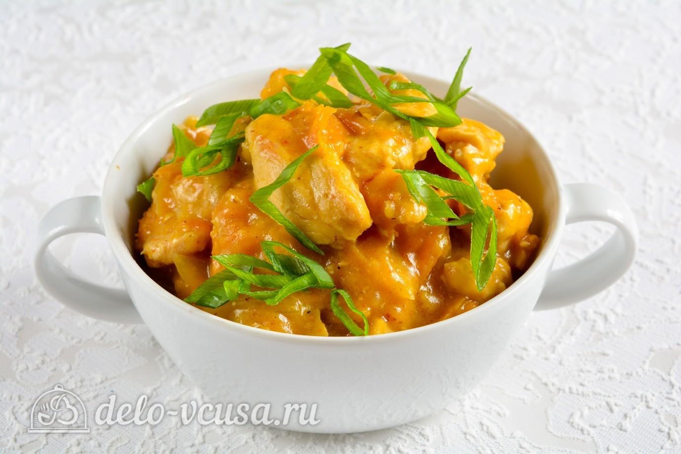 Гуляш из курицы рецепт пошагово со сметаной 92